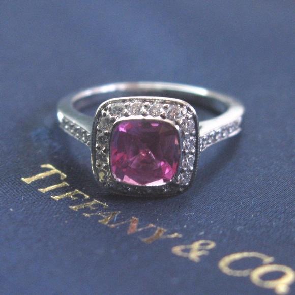 466310ade Tiffany & Co. Jewelry | Tiffany Co Platinum Pink Sapphire Diamond ...